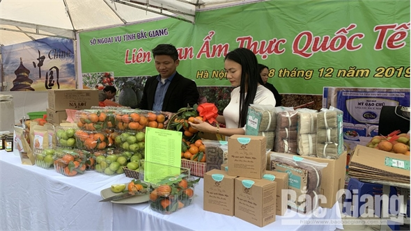 Liên hoan Ẩm thực Quốc tế 2019: Bắc Giang trưng bày nhiều đặc sản