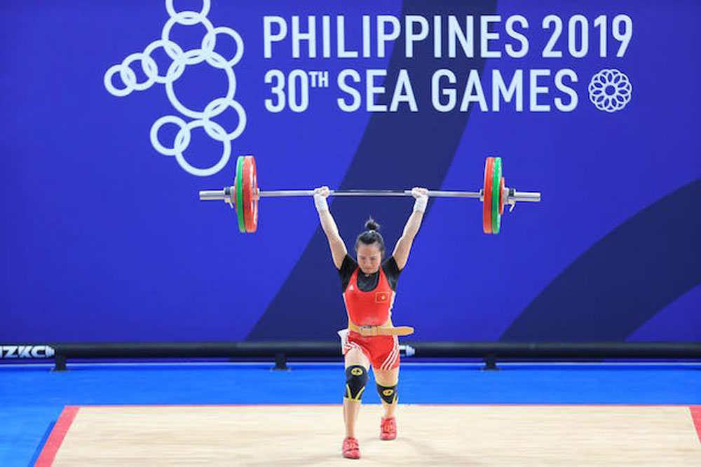 Female weightlifting , Vuong Thi Huyen, Proud of Bac Giang land, Bac Giang province, Sea Games 30,  gold medal,