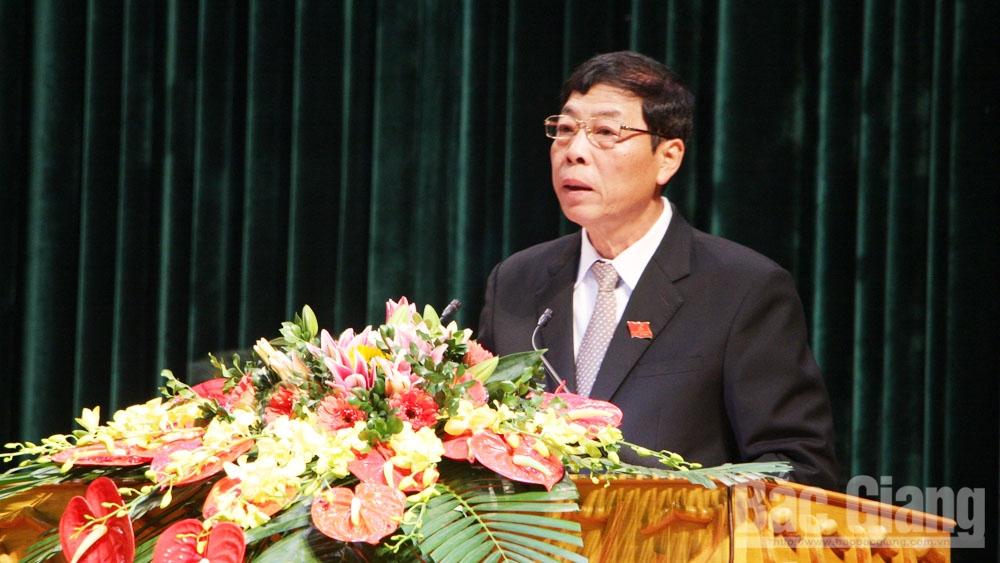 HĐND tỉnh, khai mạc kỳ họp thứ 9, đồng chí Bùi Văn Hải