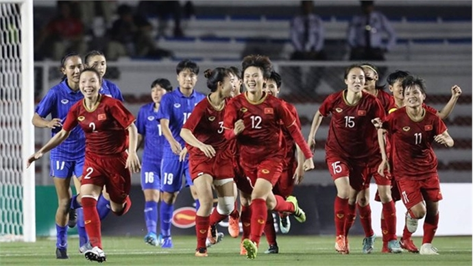 SEA Games 30: Vietnam's female football team wins gold medal