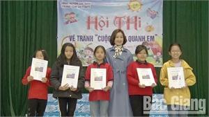 Lục Nam tổ chức thi vẽ tranh thiếu nhi