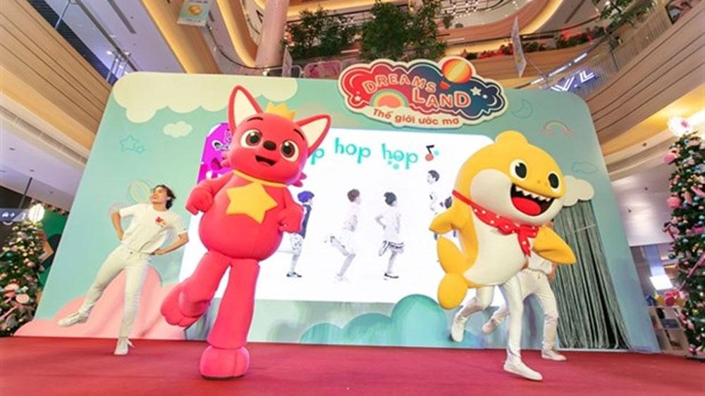 Children, beloved cartoon charactors, Vietnam, Dou-PinkFong, Baby Shark, sing and dance, world-class performances