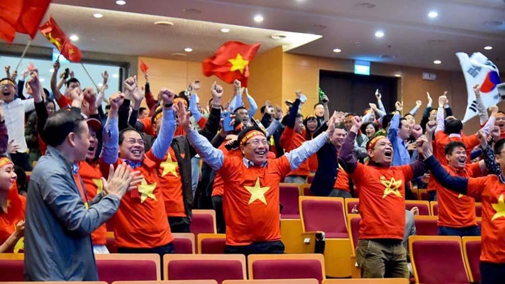 U22 Việt Nam, Việt Nam đoạt huy chương vàng bóng đá nam SEA Games 30, SEA Games 30, SEA Games, lãnh đạo Bộ Ngoại giao cổ vũ U22 Việt Nam, Phó thủ tướng Phạm Bình Minh