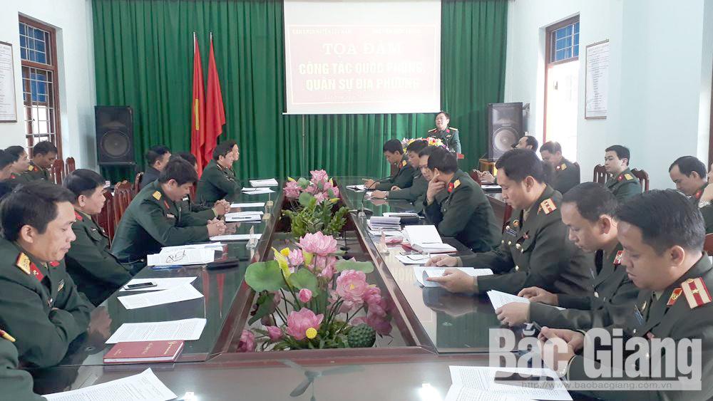 Tọa đàm công tác quốc phòng - quân sự địa phương