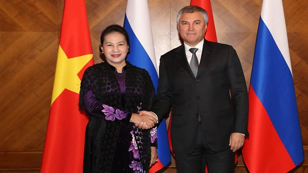 NA Chairwoman, Nguyen Thi Kim Ngan, holds talks, leader of Russia's State Duma, official visit,  inter-parliamentary cooperation
