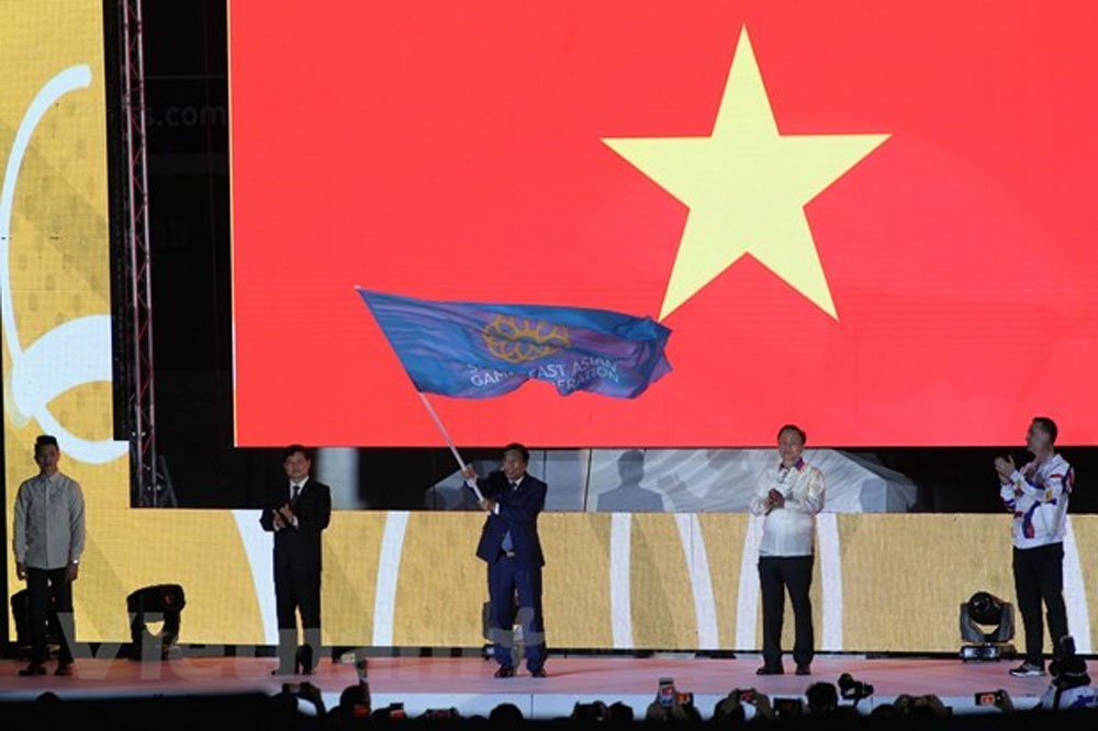SEA Games 30, fine success, Vietnam, 10 days of competition, Vietnamese delegation, second position, most successful SEA Games