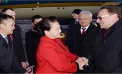 Chủ tịch Quốc hội Nguyễn Thị Kim Ngân đến Cộng hòa Belarus
