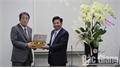 Chủ tịch UBND tỉnh Bắc Giang Dương Văn Thái chúc mừng Đại sứ quán Nhật Bản tại Việt Nam nhân dịp năm mới 2020