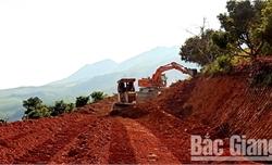 Sơn Động: Tập trung thi công các dự án trọng điểm