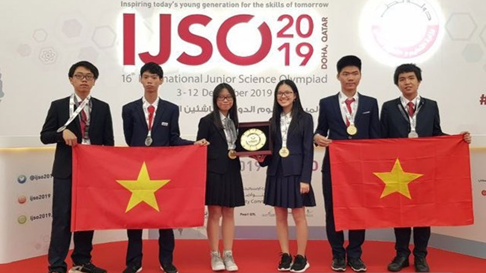 Vietnamese students,  golds and three silvers, IJSO, 16th International Junior Science Olympiad, practical scientific knowledge, scientific community