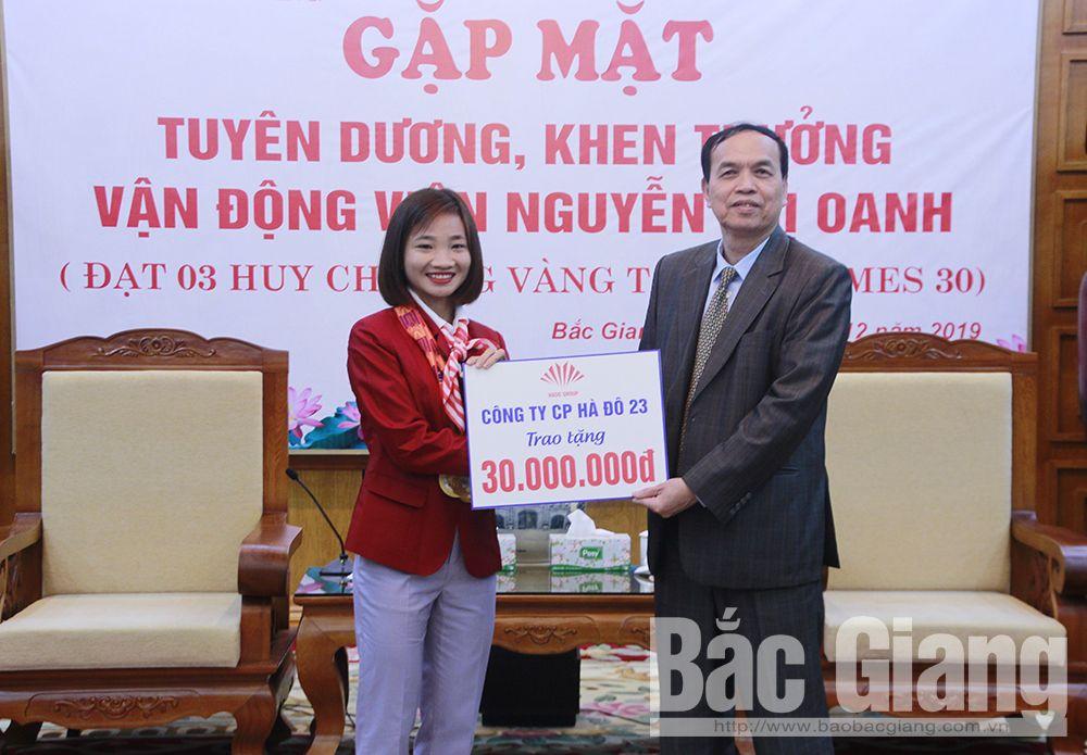 Bắc Giang, Nguyễn Thị Oanh, huy chương vàng SEA Games 30, thể thao