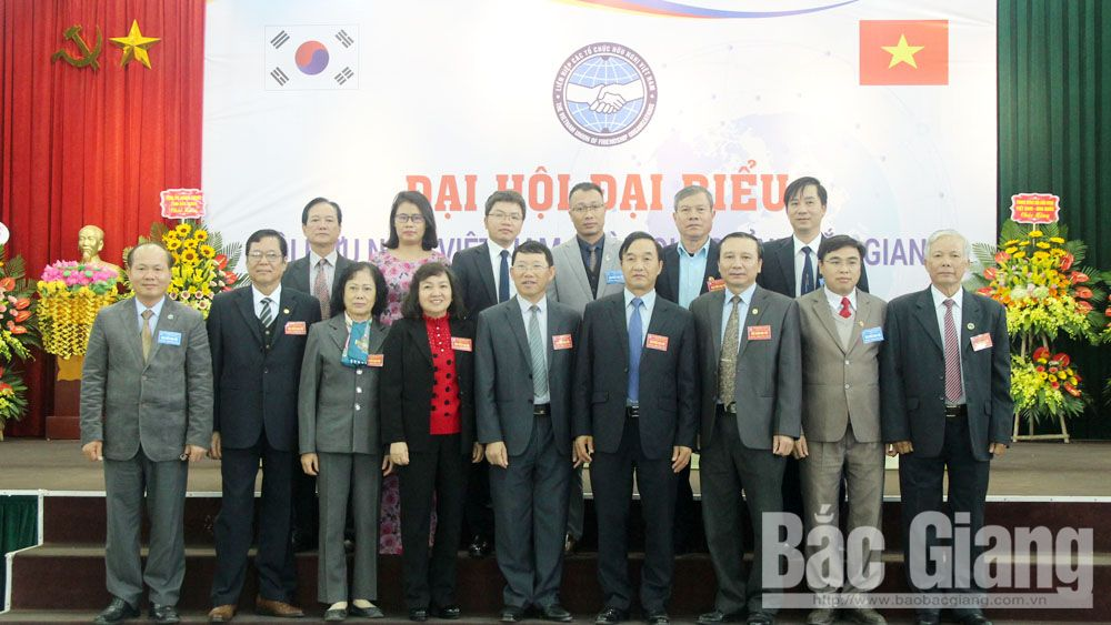 Ông Nguyễn Công Thông, Hội Hữu nghị Việt Nam-Hàn Quốc tỉnh Bắc Giang, đại hội