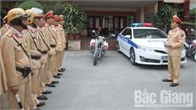 Cảnh sát giao thông Bắc Giang ra quân bảo đảm an toàn giao thông dịp Tết Nguyên đán 2020