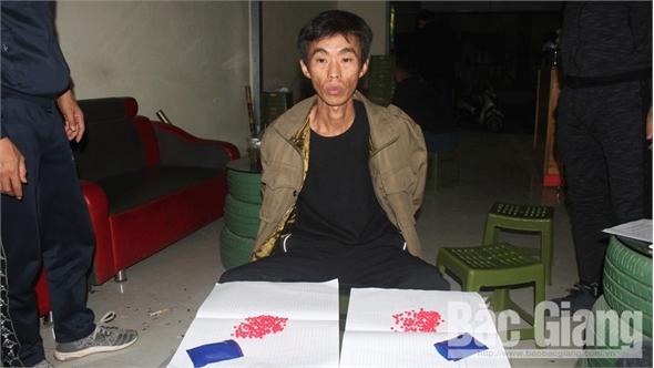 Bắc Giang: Bắt đối tượng quê Sơn La tàng trữ 294 viên ma túy tổng hợp