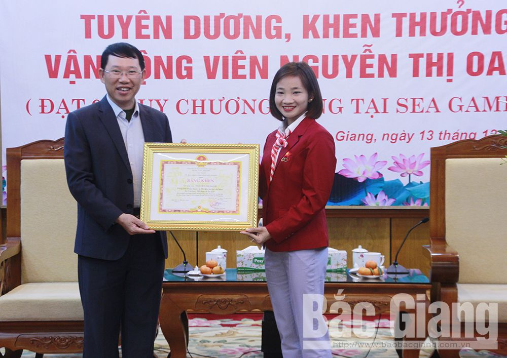 Bac Giang province, athlete Nguyen Thi Oanh, track and field athlete,  30th Southeast Asian Games, gold medals, great effort and contribution