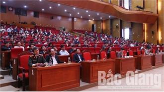 """Bắc Giang: Thông tin chuyên đề """"Kiểm soát quyền lực trong giai đoạn hiện nay"""" đến cán bộ chủ chốt"""