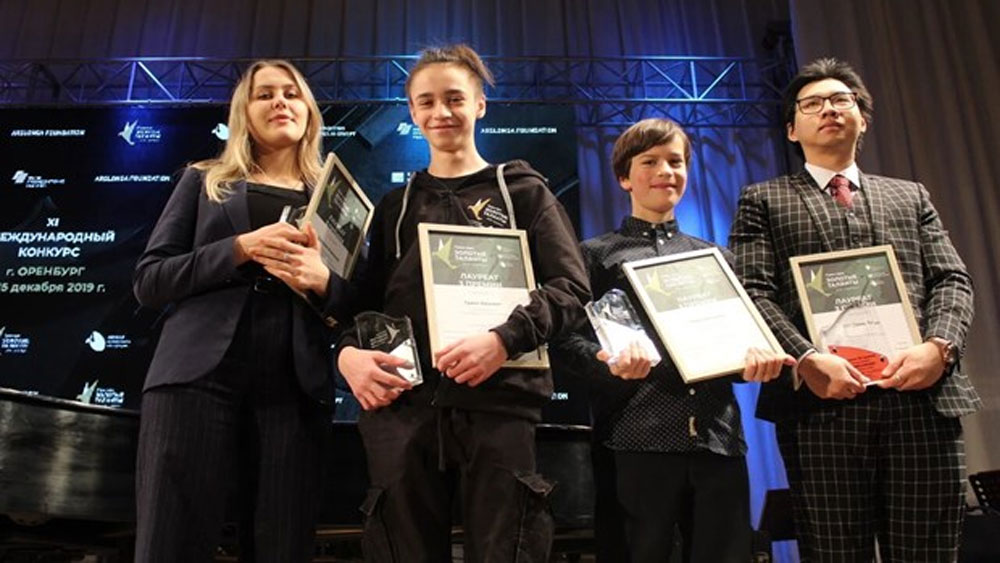 Vietnamese student, third prize, int'l music contest, Russia, Cao Dinh Thang, award ceremony, musical and arts schools