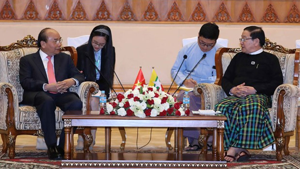 PM, stronger ties, Vietnam-Myanmar, parliamentary ties, official visit, economic development, exchanges and experience sharing