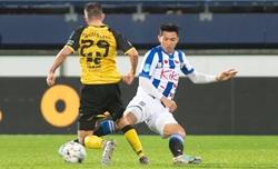 Văn Hậu lần đầu thi đấu cho đội một Heerenveen