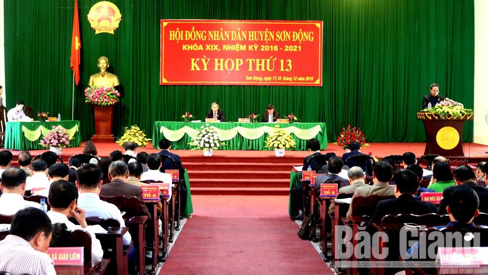 HĐND huyện Sơn Động: Thông qua 4 nghị quyết thúc đẩy phát triển KT-XH năm 2020