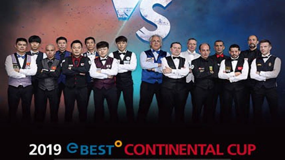 Vietnamese players compete in Carom Billiards Continental Cup