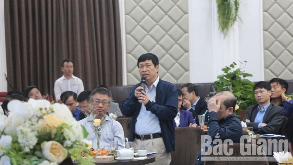 Bac Giang province, conditions for enterprises, production and business, Entrepreneur Cafe programme, investment attraction,  Business Association, foreign enterprises