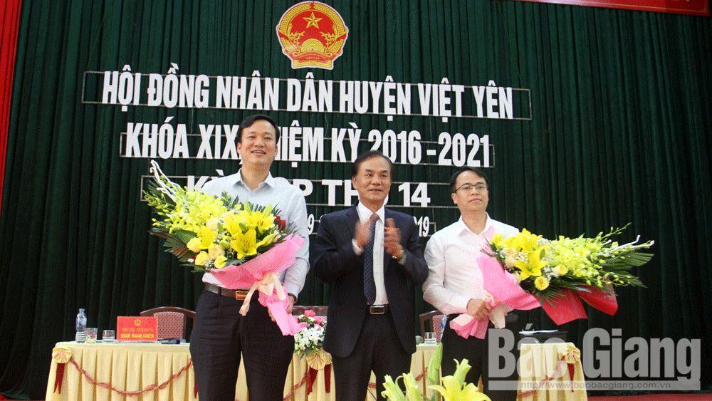 HĐND huyện Việt Yên bầu ông Nguyễn Văn Dũng giữ chức Chủ tịch UBND huyện; thông qua 6 Nghị quyết