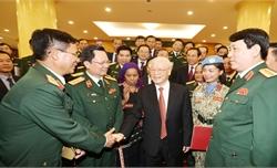 Tổng Bí thư, Chủ tịch nước Nguyễn Phú Trọng gặp mặt thân mật điển hình tiên tiến trong xây dựng nền quốc phòng toàn dân vững mạnh