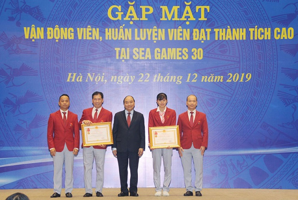 PM,  great efforts, Vietnam sports delegation, SEA Games 30, assessments of profession, Vietnamese sports' strength, sports movements