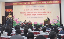 Hội nghị toàn quốc tổng kết công tác tuyên giáo năm 2019, triển khai nhiệm vụ năm 2020