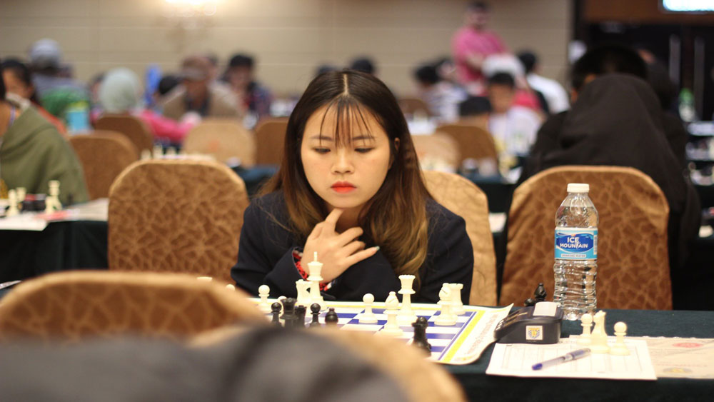 Bac Giang team, 6 gold medals, International Open Chess Tournament, Bac Giang province, three major categories, Swiss 9 rounds rule