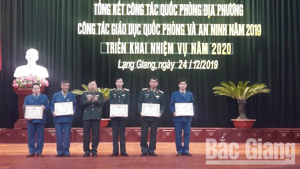 Lạng Giang: Tổng kết công tác quốc phòng địa phương năm 2019