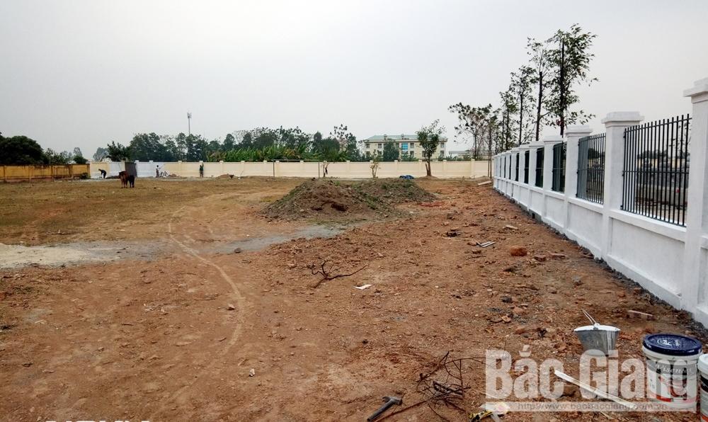 sân bóng, thôn dục quang, thị trấn bích động, Việt Yên, bị hư hỏng, hạng mục, cải tạo, nâng cấp