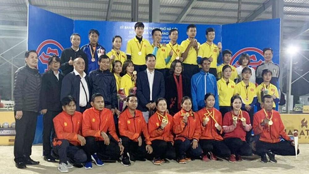 Vietnam, three gold medals, Asian Petanque Championships, Vietnamese delegation, best result, women's triples event