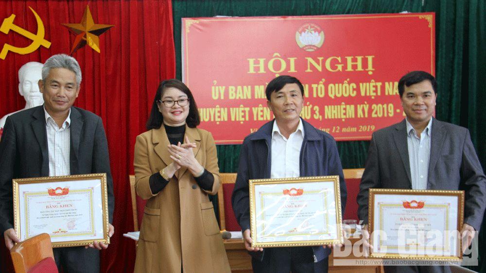 MTTQ các cấp huyện Việt Yên tiếp tục đổi mới nội dung, hình thức các cuộc vận động, phong trào thi đua