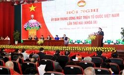 Chủ tịch Quốc hội dự Hội nghị Ủy ban Trung ương Mặt trận Tổ quốc Việt Nam lần thứ 2 (Khóa IX)