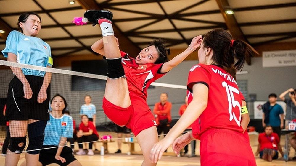Vietnam, shuttlecock kicking, SEA Games 2021, Southeast Asian Games, traditional martial art, gold medal