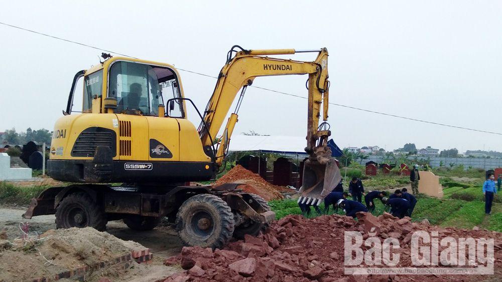 Cưỡng chế thu hồi đất để thực hiện dự án cải tạo, mở rộng nghĩa trang nhân dân Đồng Gốm