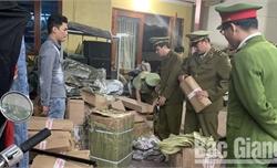 Phát hiện, xử phạt hàng hóa không rõ nguồn gốc, hàng cấm tại Yên Thế, Tân Yên