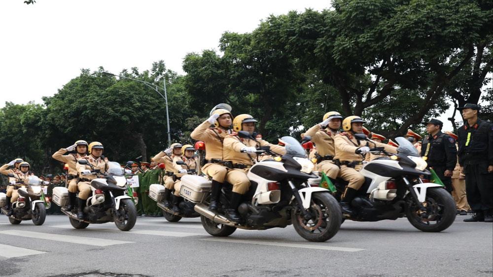 Các lực lượng ra quân tại lễ phát động.