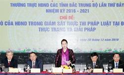 Chủ tịch Quốc hội Nguyễn Thị Kim Ngân dự Hội nghị Thường trực HĐND các tỉnh Bắc Trung Bộ