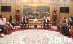 Chủ tịch UBND tỉnh Dương Văn Thái làm việc với đoàn công tác của Văn phòng Cơ quan Hợp tác quốc tế Hàn Quốc tại Việt Nam.