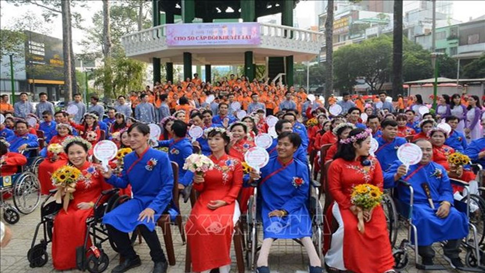 HCM City, Group wedding, disabled people, wedding package,  largest-ever group wedding, wedding ceremony