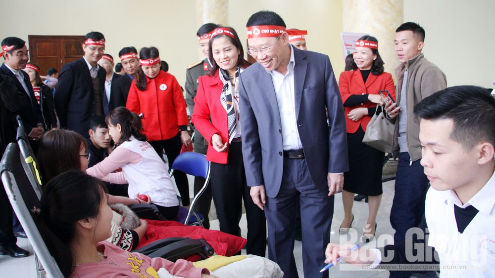 Voluntary blood donation campaign, Bac Giang province, Tet holiday, Red Spring Festival, top leading province, blood bank