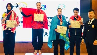 Nữ võ sĩ Pencak silat Nguyễn Thị Cẩm Nhi đoạt huy chương vàng Châu Á