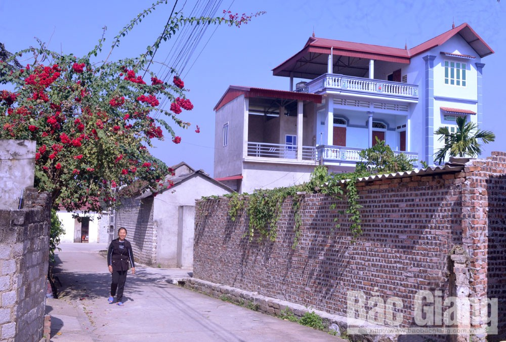 Agricultural village, village of workers, Bac Giang province, Nghia Hoa commune, modern buildings, Stable jobs, better life, socio-economic development