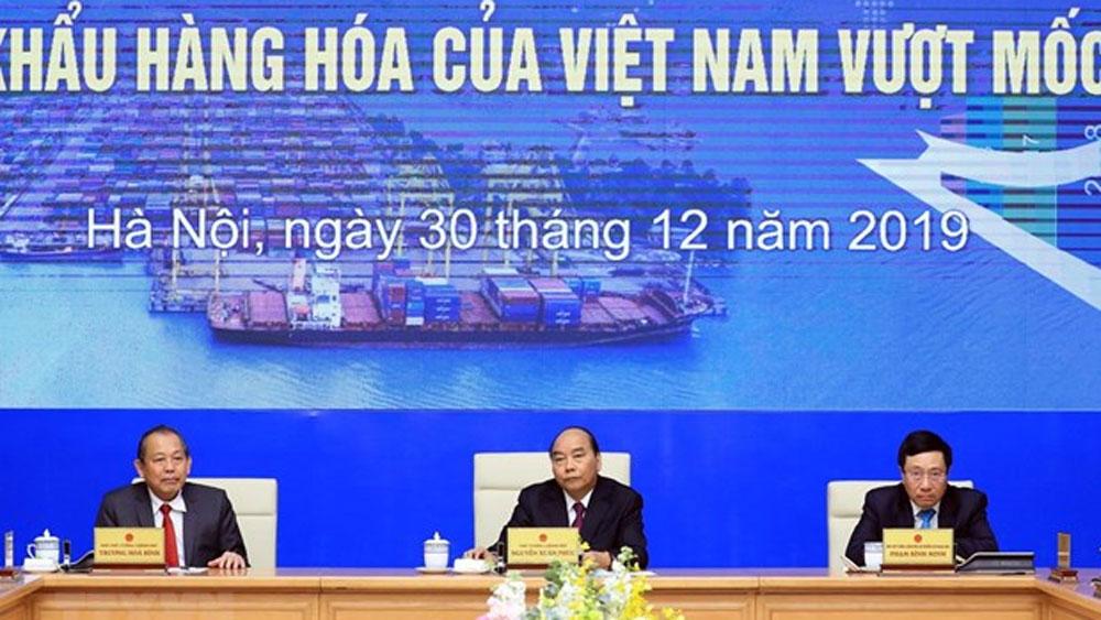 PM, 500 billion USD, import-export, trade surplus, Vietnam's economy, highest import and export values
