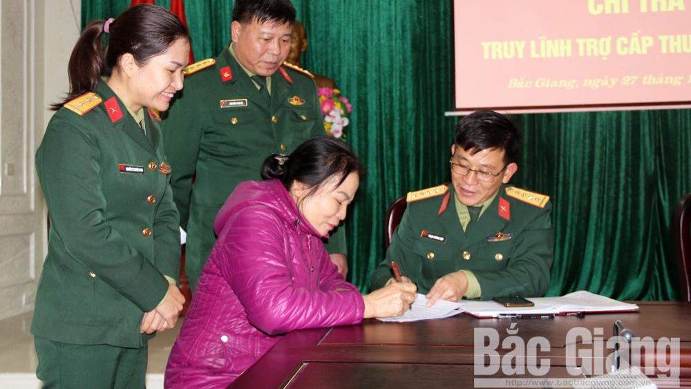 Bắc Giang giải quyết chế độ cho thương binh: Kịp thời, đúng đối tượng