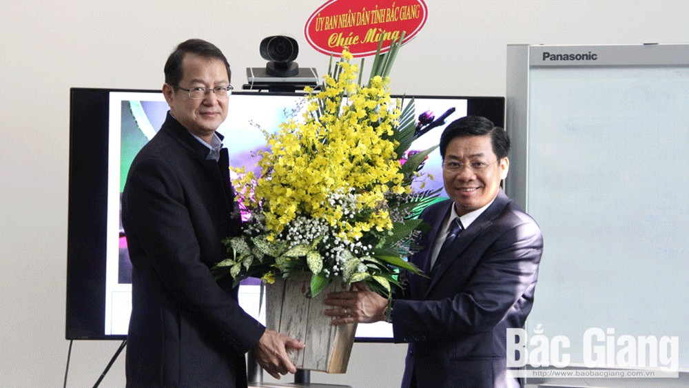 Provincial Chairman Duong Van Thai extends Tet greeting to FDI enterprises