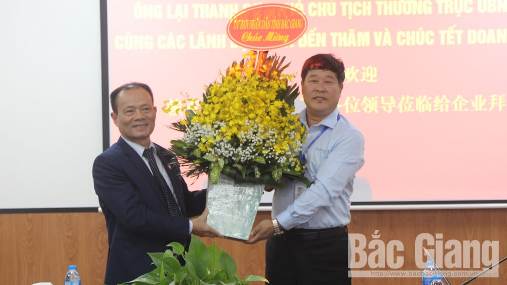 Provincial Permanent Vice Chairman Lai Thanh Son extends Tet greeting to some FDI enterprises